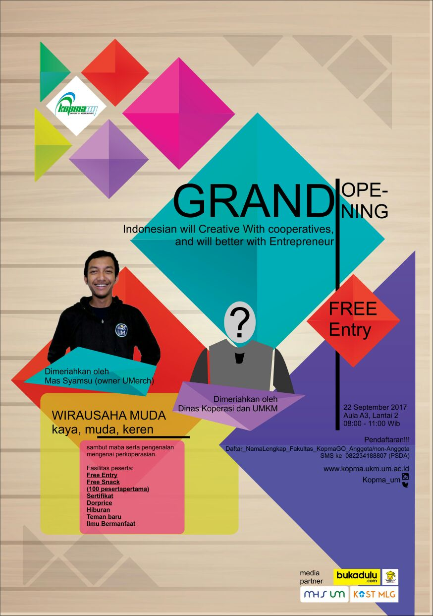 GRAND OPENING-Indonesian will creative with Cooperative and will better with Enterpreneur